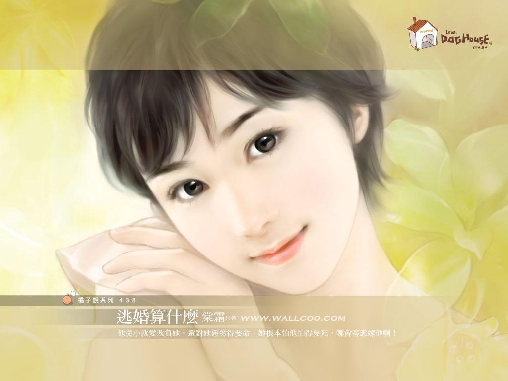 唯美手绘人物 设计欣赏 素材中国