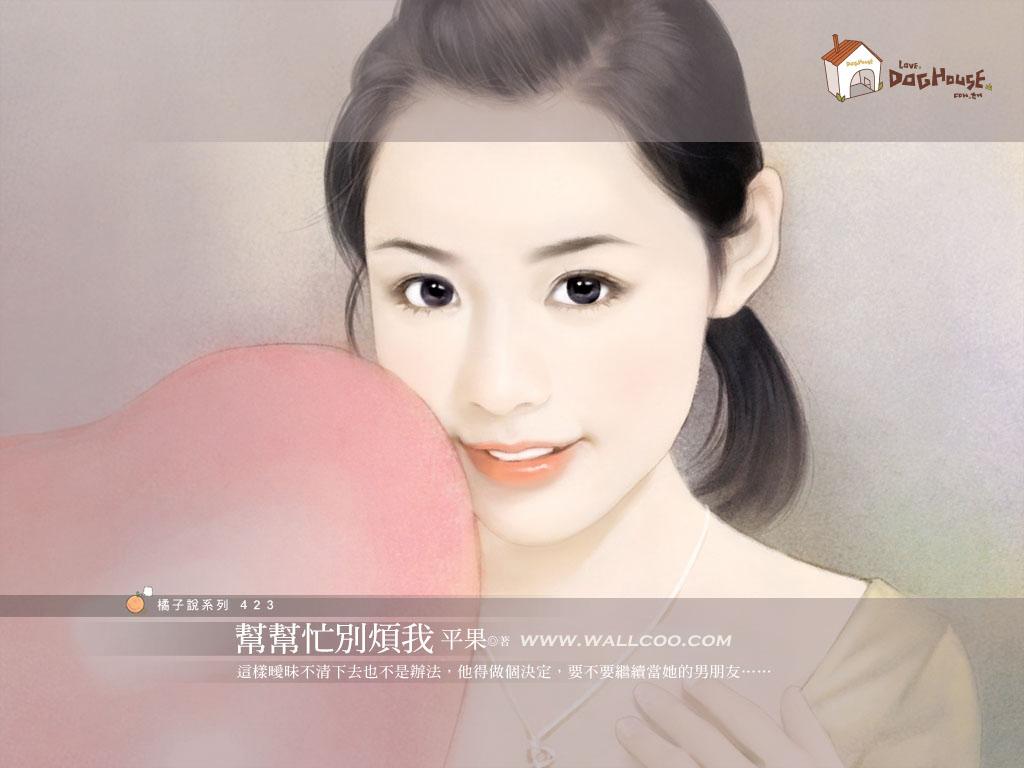 唯美手绘人物-设计欣赏-素材中国-online.sccnn.com