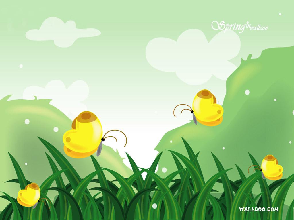 矢量风景-春天的童话-设计欣赏-素材中国-online
