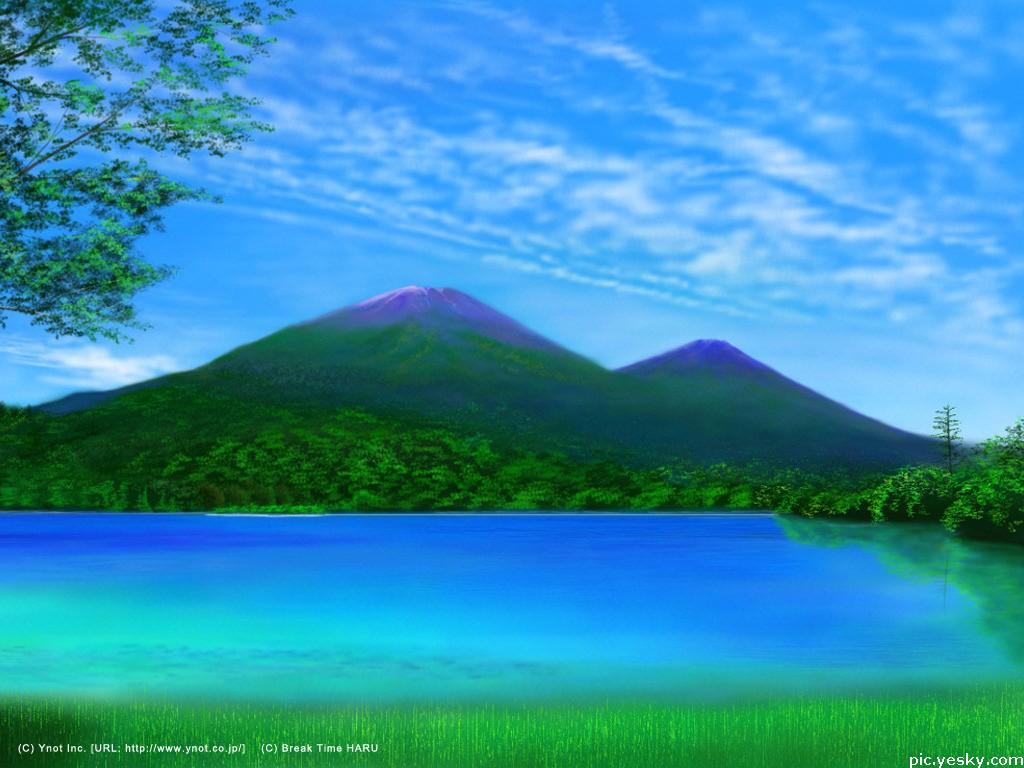 迷人水彩风景
