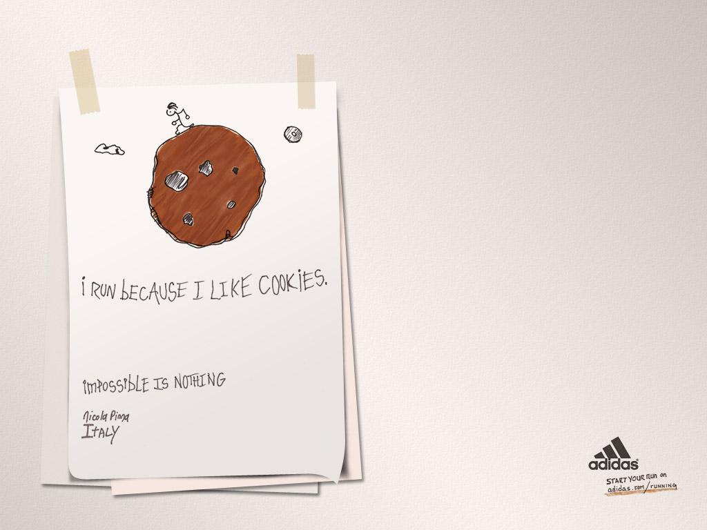Adidas涂鸦壁纸图片
