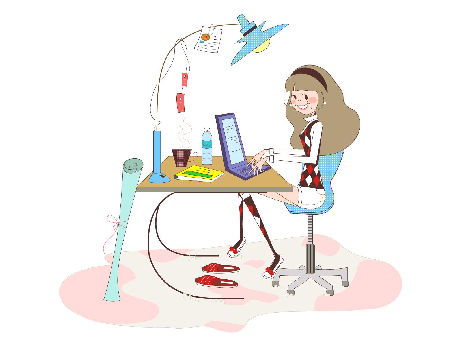 矢量女性简笔画-设计欣赏-素材中国-online.sccnn