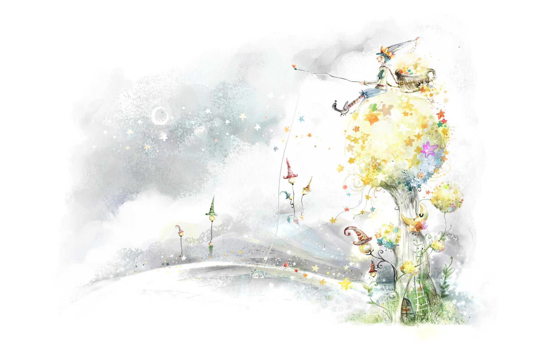 梦幻卡通风景-设计欣赏-素材中国-online.sccnn.com