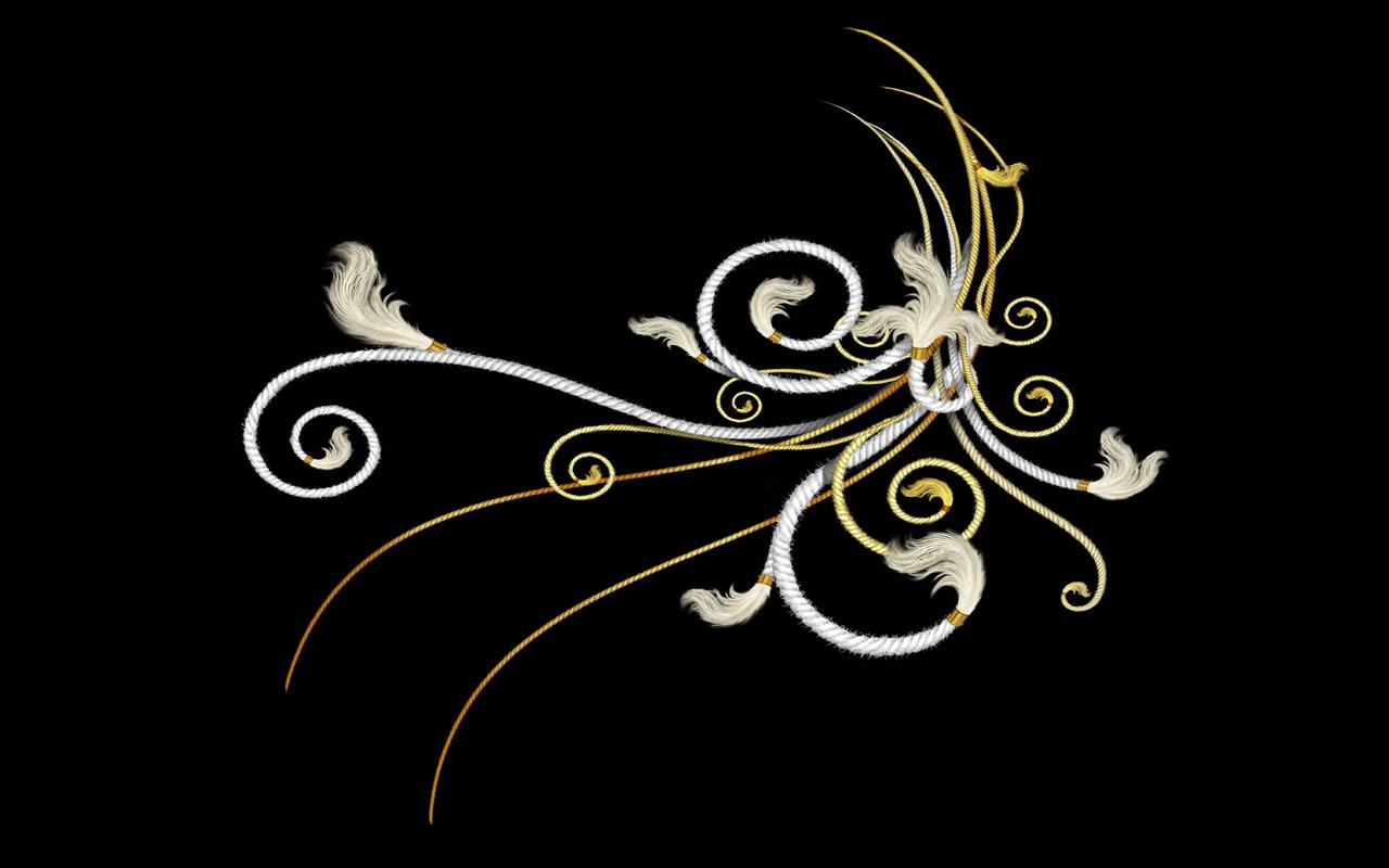 黑色背景带花纹素材