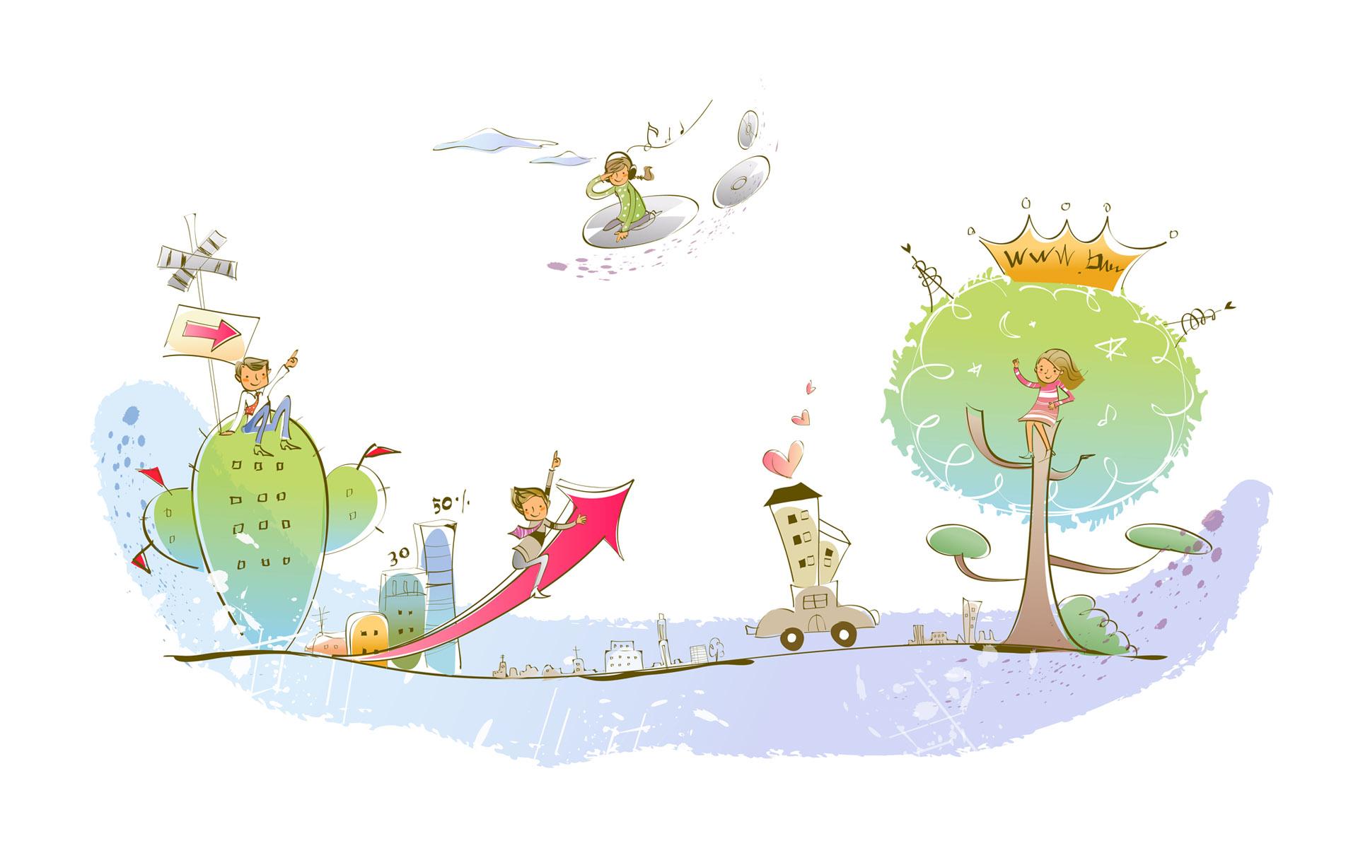 卡通梦想童年-设计欣赏-素材中国-online.sccnn.com