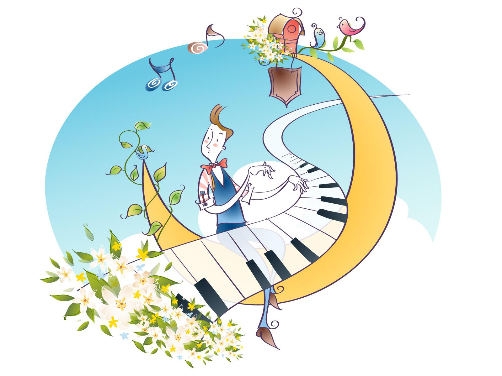 矢量卡通音乐-设计欣赏-素材中国-online.sccnn.com