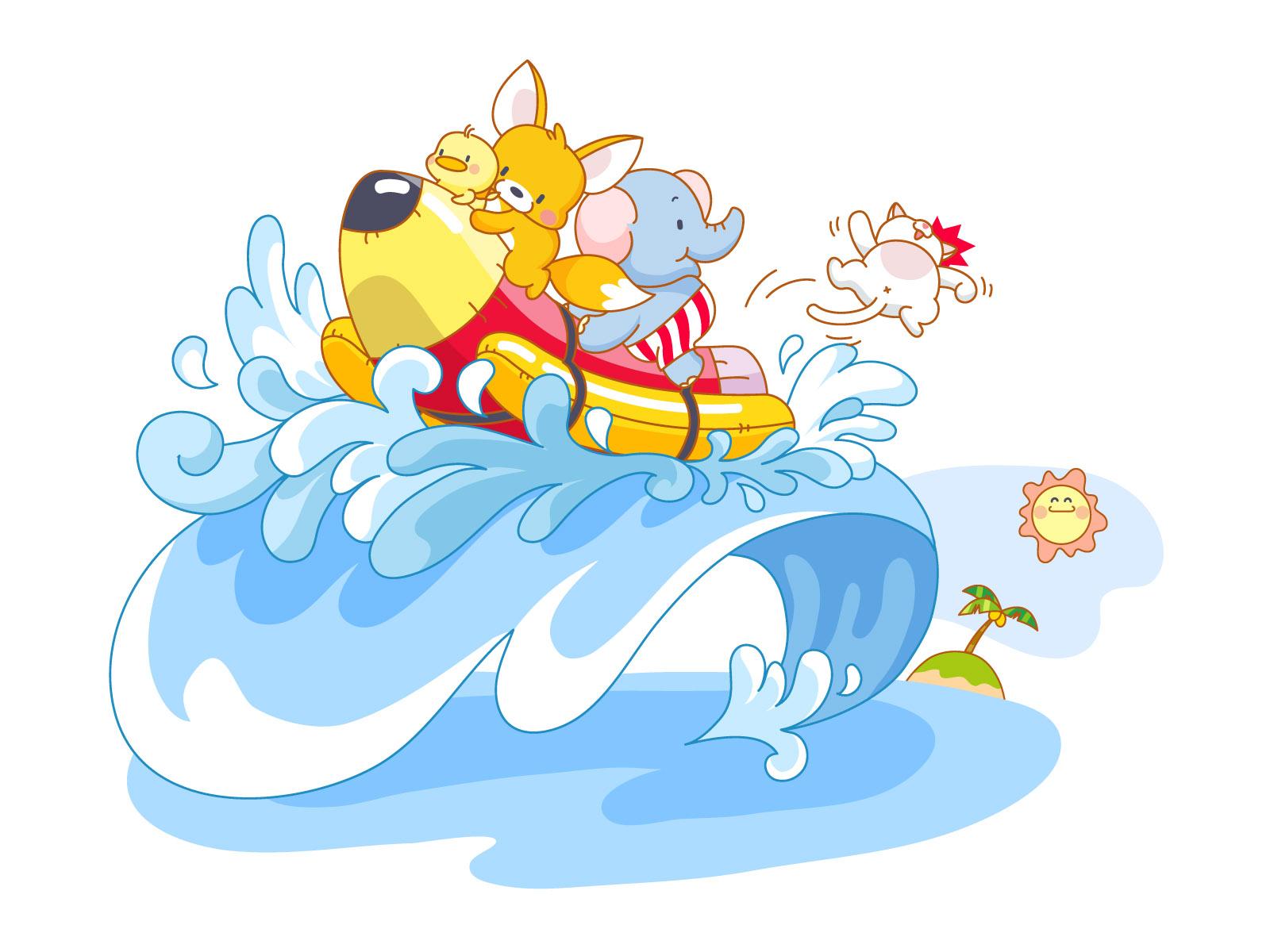 卡通动物-桌面壁纸-素材中国-online.sccnn.com