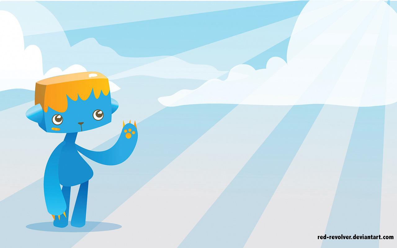 可爱3d或插画设计壁纸-设计欣赏-素材中国-online