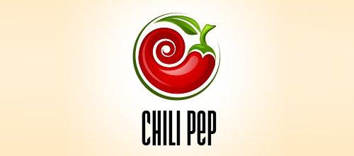 辣椒元素标志设计