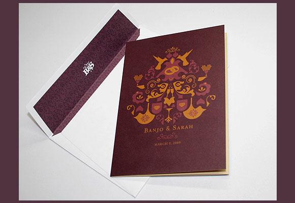 浪漫婚礼请柬设计欣赏-设计欣赏-素材中国-online.