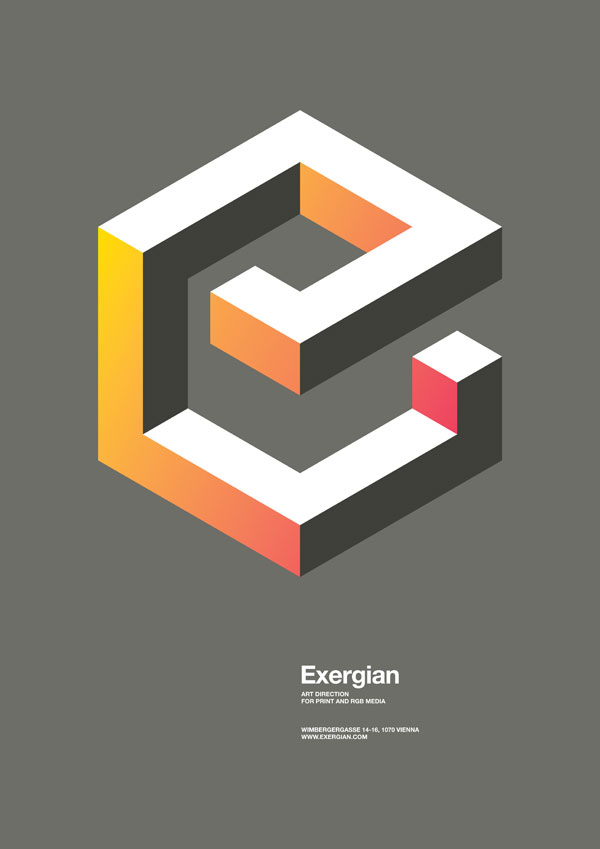 國外幾何圖形海報設計-設計欣賞-素材中國-online