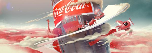 可口可乐广告宣传画-设计欣赏-素材中国-online图片