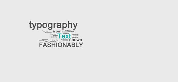 漂亮的字体排版设计