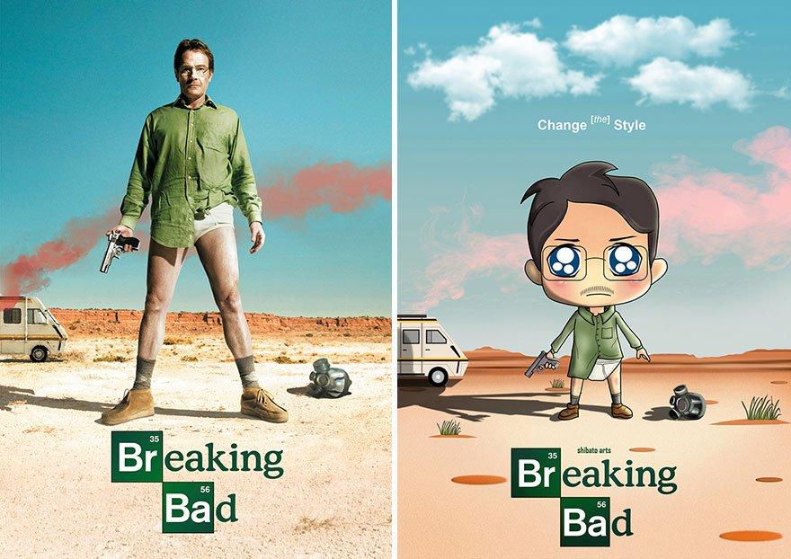 卡通风格的电影海报设计