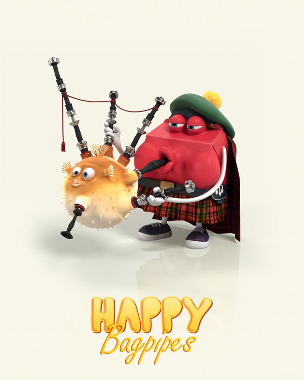 麦当劳幸福家庭游戏形象设计