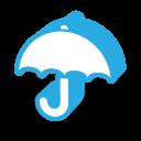 彩色雨伞图标