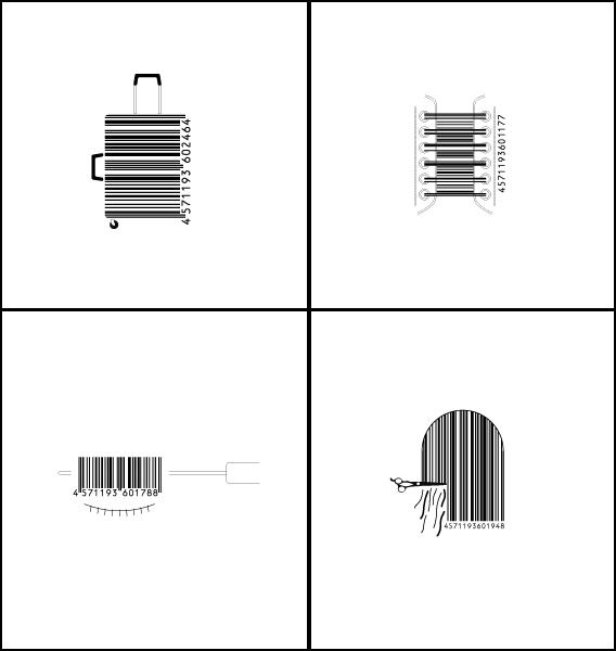 条形码创意设计-设计欣赏-素材中国-online.sccnn