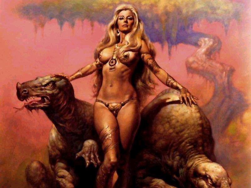 古代美女怪物手绘